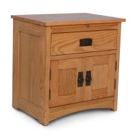 Prairie Mission Deluxe Nightstand with Doors Product Image