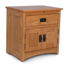 Prairie Mission Deluxe Nightstand with Doors