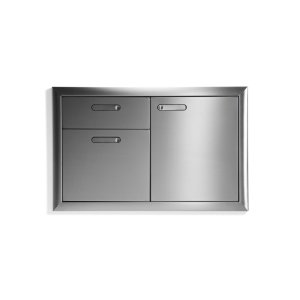"Lynx36"" Storage door & double drawer combination"