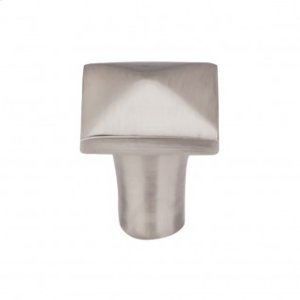 Aspen II Square Knob 7/8 Inch - Brushed Satin Nickel