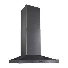 """36"""" 500 CFM Black Stainless Steel Chimney Range Hood"""