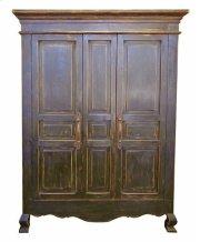 2 Door Stone Brown Armoire Product Image