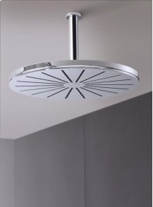 Head shower, round, ceiling-mounted - Grey