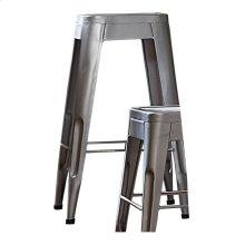"29"" Metal Stool, Silver"