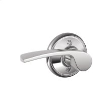 Merano Lever Non-turning Lock - Bright Chrome