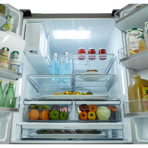 dual ice maker refrigerator. ft. french door refrigerator, with dual ice maker (stainless steel) refrigerator