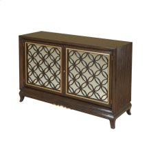 Dark LaCienega Finished Chiffonier, Gilded Two Way Bronze Mirror, Brass Accents