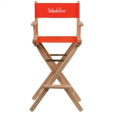 Embroidered Bar Height Directors Chair in Red