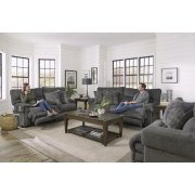 Power Headrest Lay Flat Recliner w/Ext Ottoman Product Image