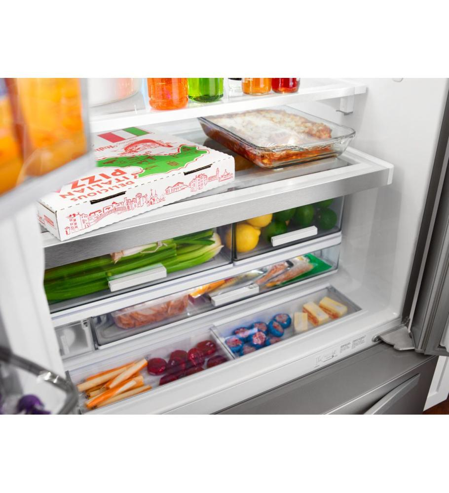 Whirlpool(r) 36 Inch Wide French Door Refrigerator With Infinity Slide  Shelf   32 Cu. Ft.   Monochromatic Stainless Steel