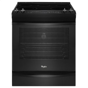 6.2 cu. ft. Front-Control Electric Stove with Fan Convection - BLACK