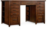 Wendover Utility Desk Complete (Two Drawer Pedestals) Product Image