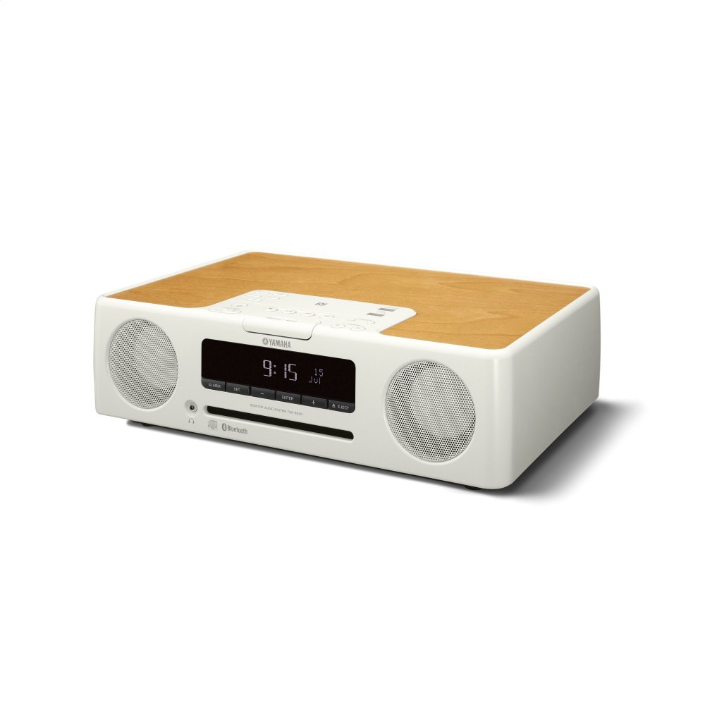 TSX-B235 White Desktop Audio System  WHITE