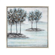 TY Bluebird Framed Oil Painting