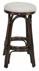 "Vanessa Indoor Swivel Rattan & Wicker 30"" Bar Stool in Antique Finish with Cushion Product Image"