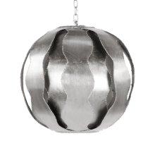 Brutalist Wave Ball Pendant In Silver Leaf