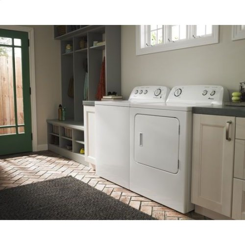 3.4 cu. ft. Top Load Washer with Dual Action Agitator - white