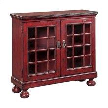 Shanghai 2-door Hall Cabinet In Antique Red Finish
