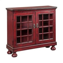 Shanghai 2-door Hall Cabinet In Antique Red Finish