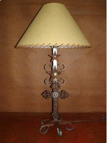 Metal Lamp With Cross