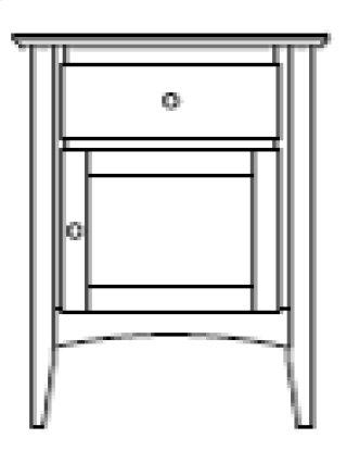 Sedona 1 Door 1 Drawer Nightstand