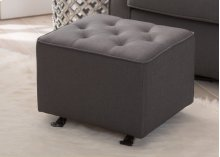 Emma Diamond Tufted Nursery Gliding Ottoman - Charcoal (931)
