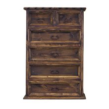 Chest 6-Drawers W/Rope (Medio Finish)