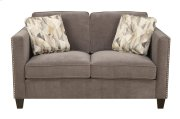 Loveseat Charcoal W/2 Accent Pillows Product Image