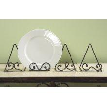 Scroll Plate Stand (4 asstd)