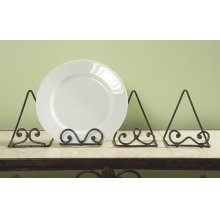 Scroll Plate Stand (4 asstd)