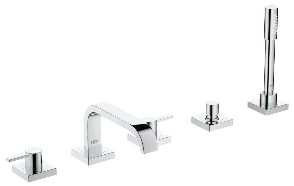 Allure Five-Hole Bathtub Faucet with Handshower