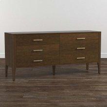 Lyon Brown B MODERN Rivoli 6 Drawer Dresser