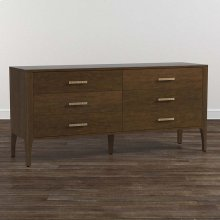 Lyon Brown B MODERN Rivoli 6 Drawer Dresser