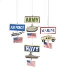 Military Ornament (4 asstd). Product Image