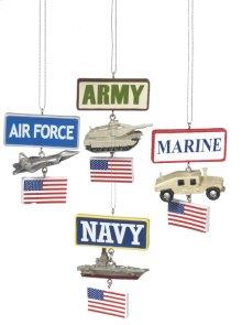 Military Ornament (4 asstd).