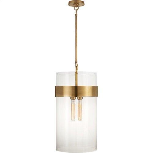 Visual Comfort S5674HAB-CG Ian K. Fowler Presidio 4 Light 13 inch Hand-Rubbed Antique Brass Pendant Ceiling Light, Medium