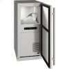 """U-Line Outdoor Collection 15"""" Nugget Ice Machine With Stainless Solid Finish And Field Reversible Door Swing (115 Volts / 60 Hz)"""