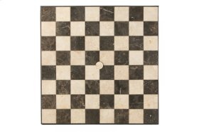 "Carnevale 36"" Square Checkerboard Table Top with Umbrella Hole"