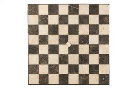 "Carnevale 36"" Square Checkerboard Table Top with Umbrella Hole"