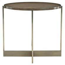 Clarendon Oval End Table in Clarendon Arabica (377)