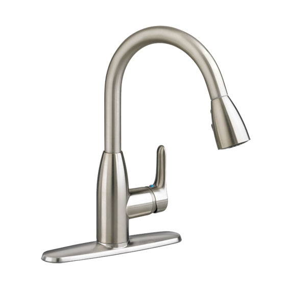 Superb Colony Soft 1 Handle High Arc Pull Down Kitchen Faucet American Standard    Polished Chrome