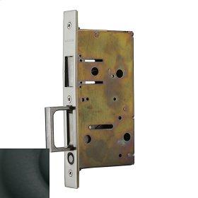Satin Black 8603 Pocket Door Strike with Pull