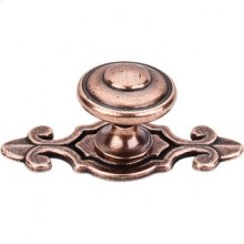 Canterbury Knob 1 1/4 Inch w/Backplate - Old English Copper