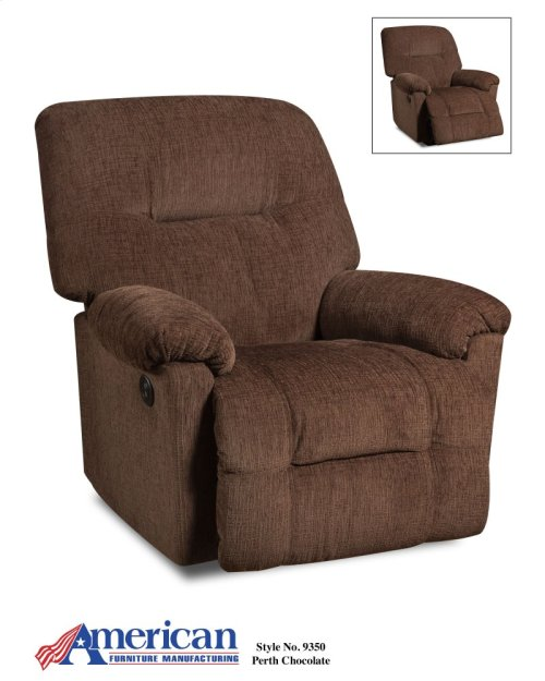 9350 - Perth Chocolate Rocker Recliner