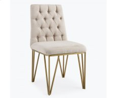 Lexi Cream Textured Velvet Dining Chair Product Image