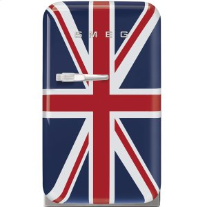 "SmegApprox 16"" 50's Retro Style Mini Refrigerator, Union Jack, Right hand hinge"