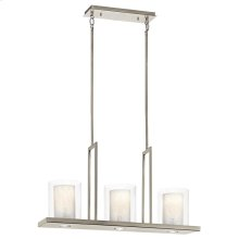 Triad Collection Triad 3 Light Linear Chandelier - Classic Pewter
