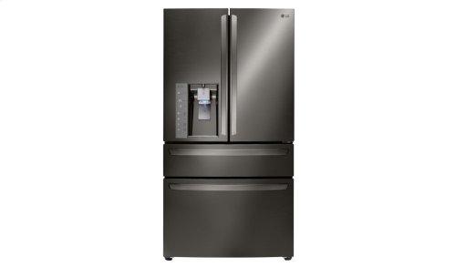 LG Black Stainless Steel Series 23 cu. ft. Counter-Depth 4- Door French Door Refrigerator w/ CustomChill® Drawer