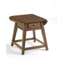 Attic Heirlooms Splay Leg End Table, Natural Oak Stain