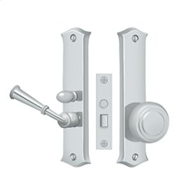 Storm Door Latch, Classic, Mortise Lock - Polished Chrome